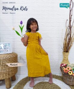 daster anak-homedress anak flascokids mustard