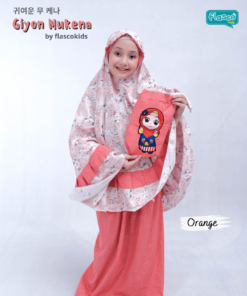 mukena anak flascokids giyon orange 1