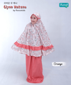 mukena anak flascokids giyon orange